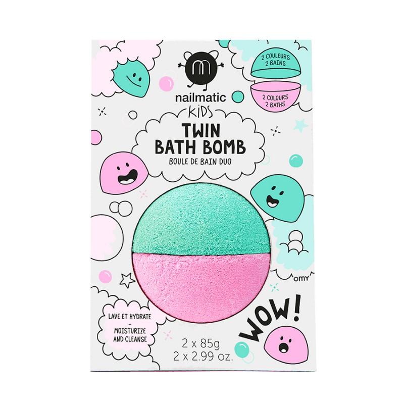 Boule de bain duo rose & vert